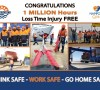 NAMPORT RECORDS ONE MILLION HOURS INJURY FREE